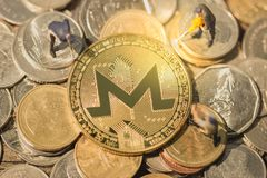 Monero mining pool and mine XMR. royalty free stock photos