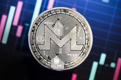 Monero is a modern way of exchange and this crypto currency. Is a convenient means of payment in the financial and web markets royalty free stock photography