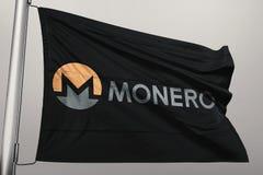 Monero XMR crypto sieć obraz stock