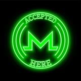 Monero XMR keurde hier teken goed vector illustratie
