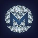 Moneroxmr crypto het muntmuntstuk op blockchaintechnologie maakte heel wat diamanten Stock Foto's