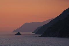 Monesteroli au coucher du soleil Photos stock