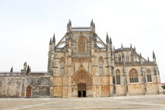 Monestery of Batalha. Exterior perspective of Batalha's monestery architecture details Stock Photography