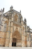 Monestery of Batalha. Exterior perspective of Batalha's monestery architecture details Royalty Free Stock Images