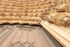 Monestery of Batalha. Exterior perspective of Batalha's monestery architecture details Royalty Free Stock Image