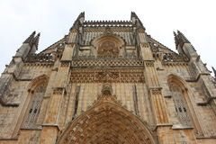 Monestery of Batalha. Exterior perspective of Batalha's monestery architecture details Stock Photo