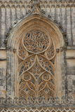 Monestery of Batalha. Exterior perspective of Batalha's monestery architecture details Royalty Free Stock Photo