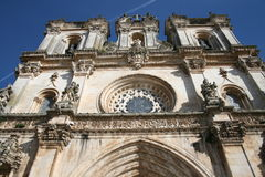Monestery. Perspective of a portuguese historic monument Royalty Free Stock Image