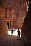 Monestery in Petra, Jordan - as it would on old picture Stock Image