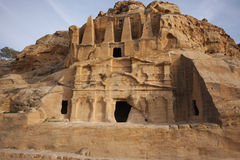 Monestery in Petra, Jordan - as it would on old picture Stock Photo