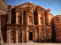 Monestery in Petra Royalty Free Stock Image