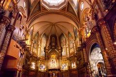 Monestir修道院蒙特塞拉特岛卡塔龙尼亚,西班牙 免版税库存图片