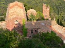 Monestir-castell, Escornalbou ( Spain ) Stock Image