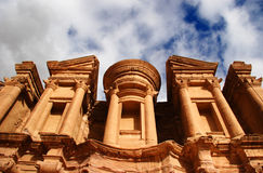 Monestry at Petra, Jordan Stock Image