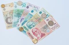 Monetär serb Fotografering för Bildbyråer