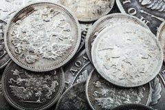 Monetär silver Arkivfoto
