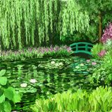 Monet Bridge illustrazione di stock