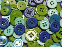 Monet Buttons. The colors of these buttons in a way reminded me of Monets colors that he used for his paintings Royalty Free Stock Photo