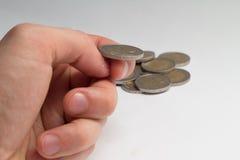 Monet d'isolement d'argent Photo stock