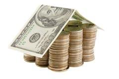 monet dolarów domowy pieniądze Obraz Royalty Free