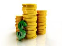 monet dolarowy udziału znak Zdjęcie Stock