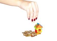 monet domu stosu zabawka Zdjęcie Stock