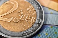 monet euro 2 Zdjęcie Stock