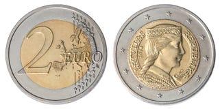 monet euro 2 Zdjęcia Stock