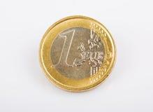 monet euro, jeden wolny Zdjęcia Stock