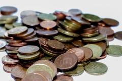 monet euro kołek Obrazy Stock