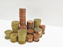 monet euro kołek Zdjęcie Royalty Free