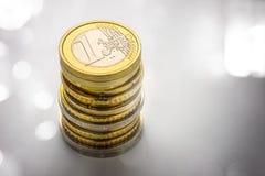 monet euro kołek Fotografia Stock