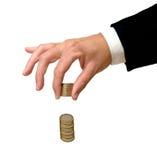 monet euro ręki target1162_0_ Fotografia Stock