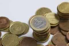 monet euro stos Obraz Stock