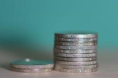 2 monet euro tło Obraz Royalty Free