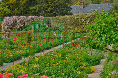 Monet house in Giverny in Normandie Stock Photo