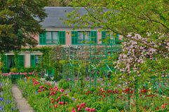 Monet house in Giverny in Normandie Stock Image