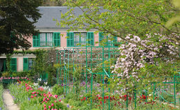 Monet house in Giverny in Normandie Royalty Free Stock Photography