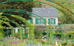 Monet house in Giverny in Normandie Royalty Free Stock Photos