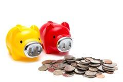 Monet i prosiątka banki zdjęcie stock