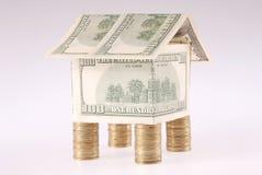 monet kosztów dolarów dom Zdjęcia Royalty Free