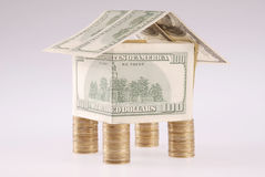 monet kosztów dolarów dom Zdjęcia Stock