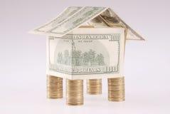 monet kosztów dolarów dom Zdjęcie Royalty Free