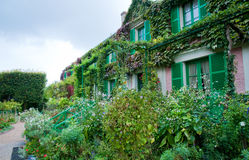 Monet's garden stock photography