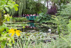 Monet`s garden in giverny, france Stock Image