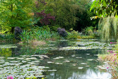 Monet's garden and lily pond Royalty Free Stock Photos