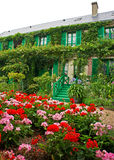 Monet's House, Giverny. Front of Monet's House in Giverny, France Royalty Free Stock Images