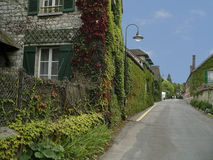 Monet's village, Giverny, France. Claude Monet's House  in Giverny, France is open to a constant stream of more than 500,000 visitors during the seven months Royalty Free Stock Photography