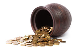 monet spadać złoty puszkuje Zdjęcie Royalty Free