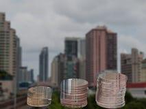 Monet sterty, Biznesowy budynku tło Obrazy Stock